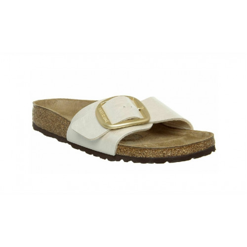 Birkenstock Madrid Big Buckle Pearl White