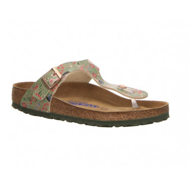 Birkenstock Gizeh BS Meadow Flowers Khaki