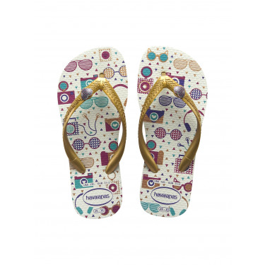 Havaianas Kids Fun White Golden